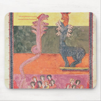 The Dragons, from the Girona Beatus Mouse Pad