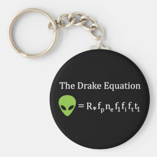 The Drake Equation Basic Round Button Key Ring