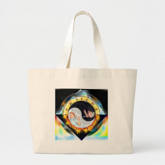 The Dramatic Dharma of Dueling Dualism Tote Bags