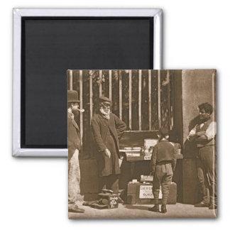 The Dramatic Shoe Black, 1876-77 (woodburytype) Magnet