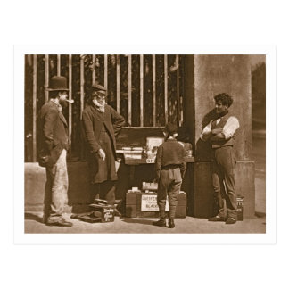 The Dramatic Shoe Black, 1876-77 (woodburytype) Postcard