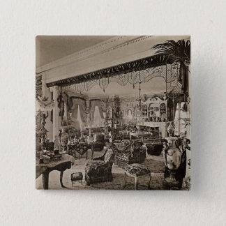 The Drawing Room, Wickham Hall, Kent, 1897 15 Cm Square Badge