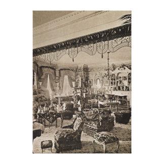 The Drawing Room, Wickham Hall, Kent, 1897 Canvas Print