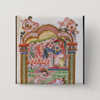 The Dream and the Adoration of the Magi 15 Cm Square Badge