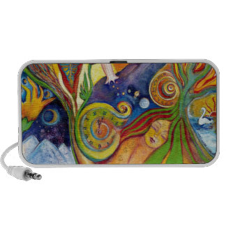The Dream Fantasy Art  Modern Psychedelic Surreal Mini Speakers