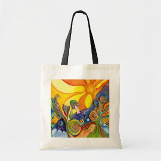 The Dream Fantasy Art  Modern Psychedelic Surreal Budget Tote Bag