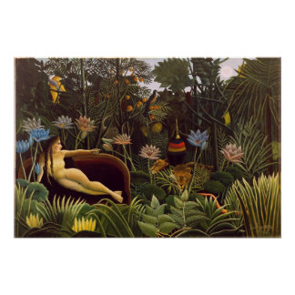 The Dream Henri Rousseau Jungle Flowers Painting Poster