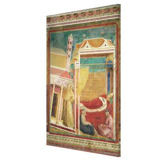 The Dream of Innocent III, 1297-99 Canvas Print