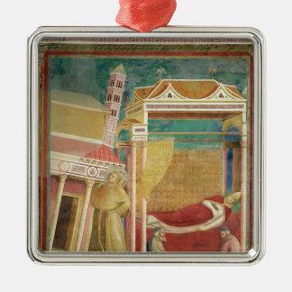 The Dream of Innocent III, 1297-99 Silver-Colored Square Decoration