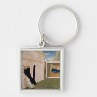 The Dream of Innocent III Silver-Colored Square Key Ring