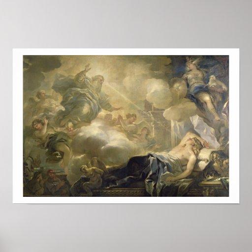 The Dream of Solomon, c.1693 (oil on canvas) Poster