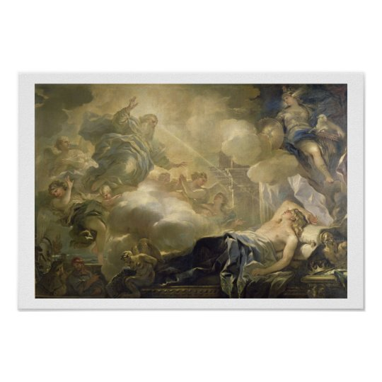 The Dream of Solomon, c.1693 (oil on canvas) Poster