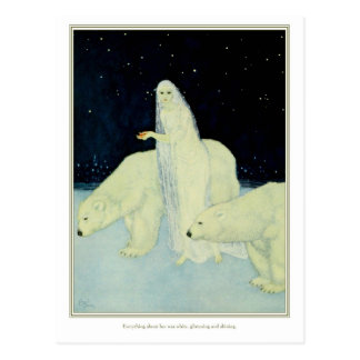 The Dreamer of Dreams White Glistening Shining Post Card