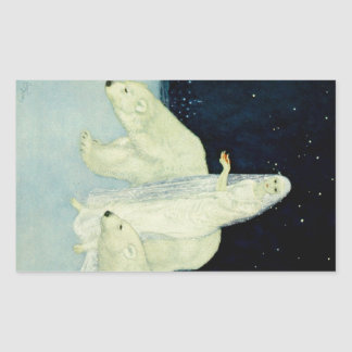 The Dreamer of Dreams: White, Glistening & Shining Rectangular Sticker
