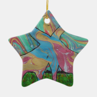 The Dreaming Giraffes Christmas Ornament