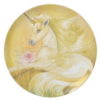 The Dreamy Golden Unicorn Party Plates