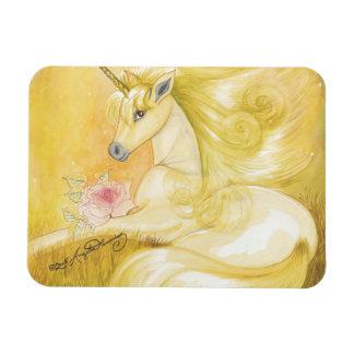 The Dreamy Golden Unicorn Rectangular Photo Magnet