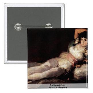 The Dressed Maja,  By Francisco De Goya 15 Cm Square Badge