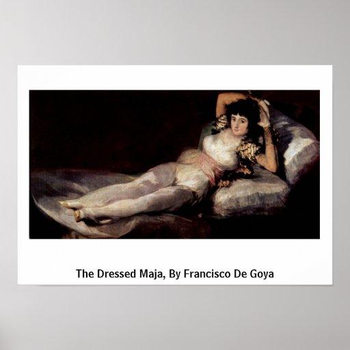 The Dressed Maja, By Francisco De Goya Poster