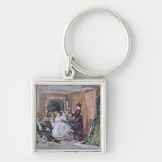 The Dressing Room of Hortense Schneider Silver-Colored Square Key Ring