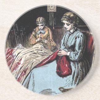 """""""The Dressmakers"""" Vintage Illustration Drink Coasters"""