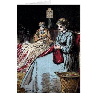 """""""The Dressmakers"""" Vintage Illustration Greeting Card"""