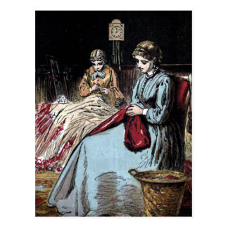 """The Dressmakers"" Vintage Illustration Postcard"