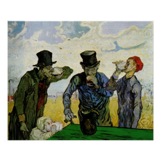 The Drinkers by Vincent van Gogh Poster