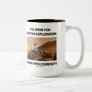 The Drive For Martian Exploration Begins Curiosity Coffee Mugs