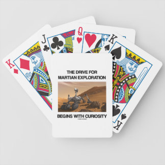 The Drive For Martian Exploration Begins Curiosity Bicycle Card Decks