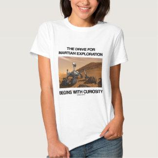 The Drive For Martian Exploration Begins Curiosity Shirt