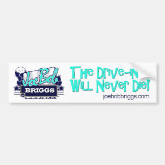 The Drive-In Will Never Die White Bumper Sticker