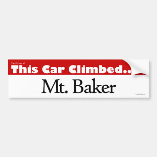 The Driver of This Car Climbed Mt. Baker Bumper Sticker