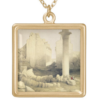 The Dromos or Central Hall of the Great Temple of Gold Plated Necklace