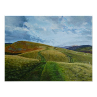 """""""The Drovers Road"""" (oil) Northumberland Print"""