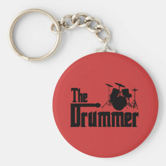 The Drummer Basic Round Button Key Ring