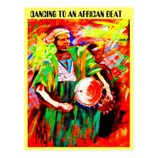 THE DRUMMER MAN 2, DANCING TO AN AFRICAN BEAT POSTCARD