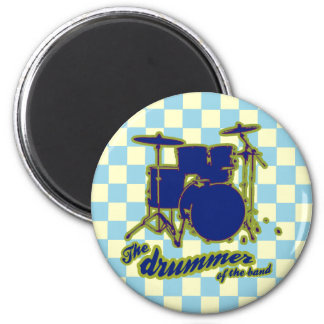 the drummer ~ music 6 cm round magnet