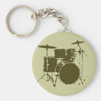 the drummer of the band basic round button key ring