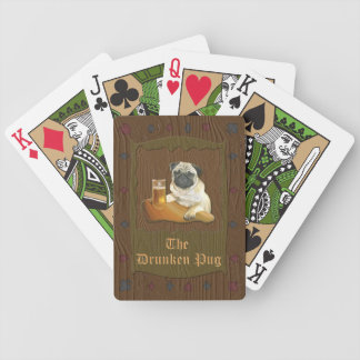 The Drunken Pug playing cards