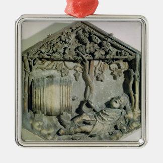 The Drunkenness of Noah, hexagonal decorative Christmas Ornament