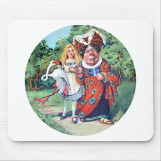 The Duchess Gives Alice Advice on Flamingo Croquet Mouse Pad