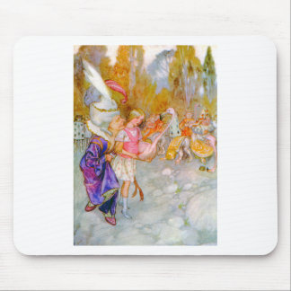 THE DUCHESS GIVES ALICE TIPS IN FLAMINGO CROQUET MOUSE PAD