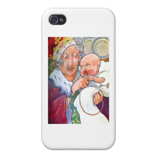 The Duchess in Her Kitchen with the Pig Baby iPhone 4/4S Cases