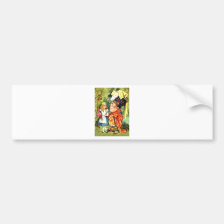 THE DUCHESS INSTRUCTS ALICE IN THE QUEEN S CROQUET BUMPER STICKERS