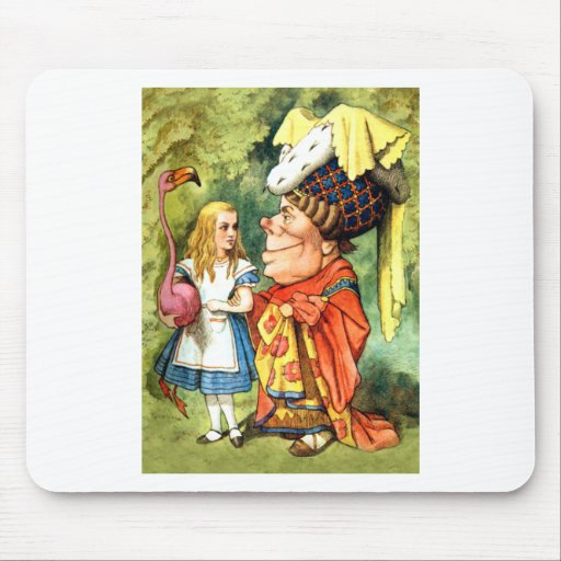 THE DUCHESS INSTRUCTS ALICE IN THE QUEEN'S CROQUET MOUSE PAD