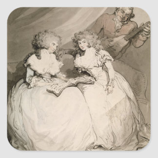 The Duchess of Devonshire and her Sister, the Coun Square Sticker