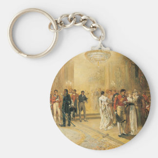 The Duchess of Richmond's Ball in 1815 Basic Round Button Key Ring