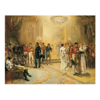 The Duchess of Richmond's Ball in 1815 Postcard