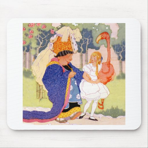 The Duchess Offers Alice Flamingo Croquet Tips Mouse Pad